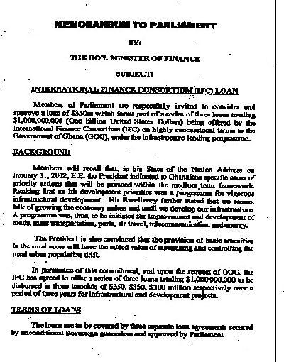 IFC Loan Deal