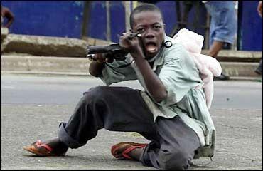 Child Soldier In Liberia