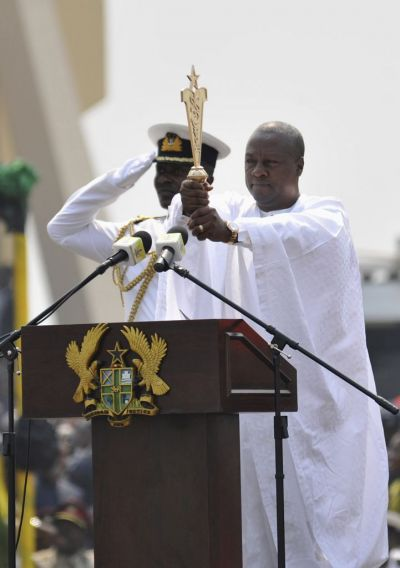 Mahama sworn in as Ghana president