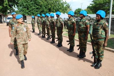 Ghanaian Soldiers In Cote D'ivoire