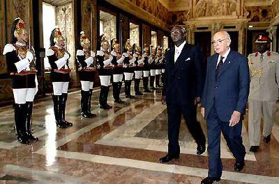 President John Kufuor in Italy
