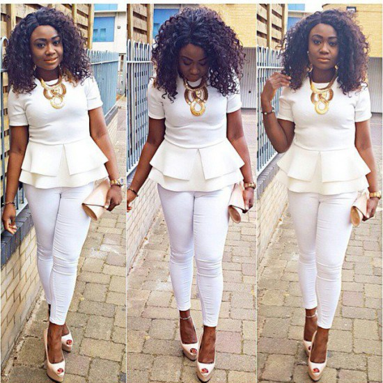 9bb3d8d30be Glam in an all white outfit