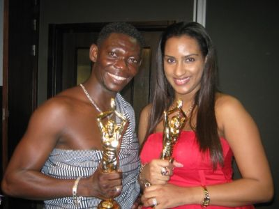Agya koo and others receive cars from Ghana movie awards
