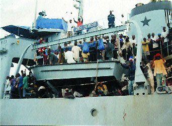 GHANAIANS RETURN HOME