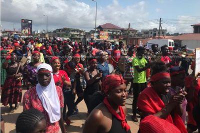 Family of Takoradi kidnapped girls hit streets to demand dismissal of CID boss, others