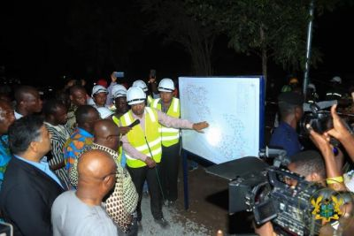 President Akufo-Addo cuts sod for irrigation project at North Tongu