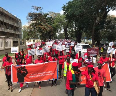 PHOTOS: Law students protest over mass exam failure