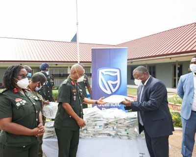 Stanbic donates test kits, PPE to GHS, Cardio and 37 Military Hospital