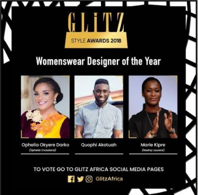 Nominees' list for Glitz Style Awards 2018