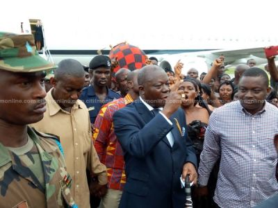 Otumfuo receives hero's welcome after money laundering allegations