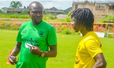 Yacouba back in Kotoko training with a smile
