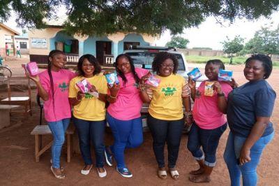 WPP donate sanitary pads, educational materials to school girls in Savelugu
