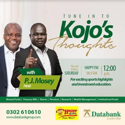 Databank boss joins PJ Mosey on Happy FM's Weekend Sports