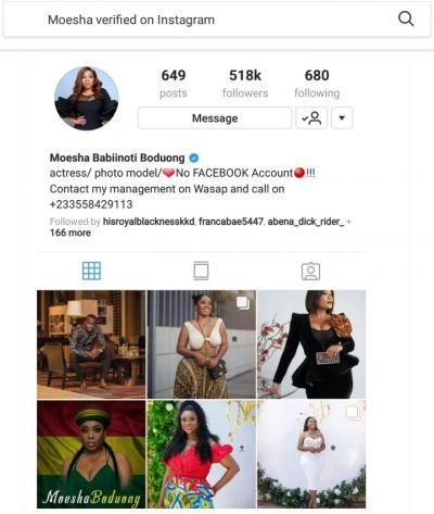 Moesha celebrates her verified Instagram account