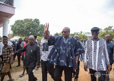 John Mahama mourns the late father of Lt. Col. Gbevlo Lartey