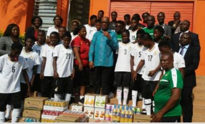 Ghana's Ambassador to Ivory Coast donates to Black Queens ahead of WAFU opener