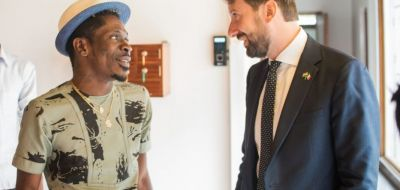 Shatta Wale discusses partnership with the Italian Embassy