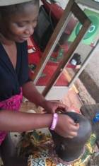Meet the lady taking the barbering business serious in Ghana