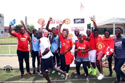 Manchester United fans in Ghana hold fun games