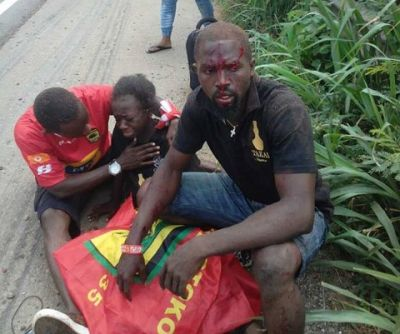 Asante Kotoko fans involved in an accident