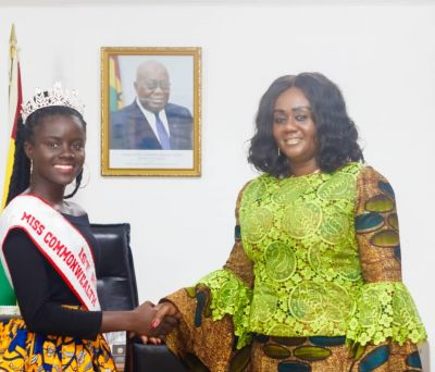 Miss Commonwealth Ghana pays courtesy call on Minister for Tourism, Arts and Culture