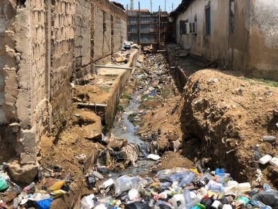 Accra Floods: Fear-stricken Nima residents cry for help as filth overtakes storm drain