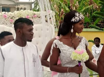 Kotoko striker William Opoku Mensah marries pretty girlfriend