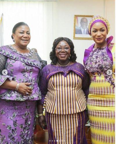 Prescribed attire? Rebecca, Samira, and Frema Opare dazzle in purple at SONA