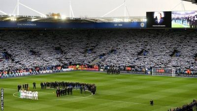 Leicester City remembers Vichai Srivaddhanaprabha amid rainbows, celebrations and tears