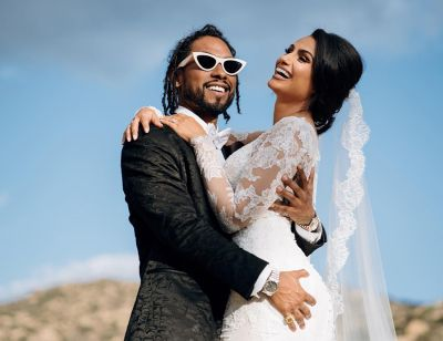 Singer Miguel finally ties the not with longtime partner Nazanin Mandi