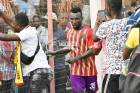 Hearts fans shower Emmanuel Nettey with cash after performance against Liberty