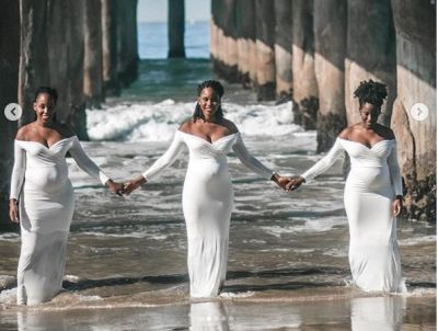 Maternity photos of 3 sisters expected to give birth same time go viral
