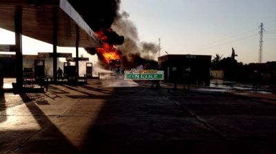 Fuel tanker explodes at Techiman