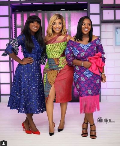 Jackie Appiah, Naa Ashorkor, Joselyn Dumas stun in African prints at 2018 Miss Malaika auditions
