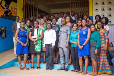 Gey Hey '85 Year Group' supports Accra Wesley Girls