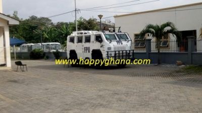 Heavy security presence at GFA secretariat