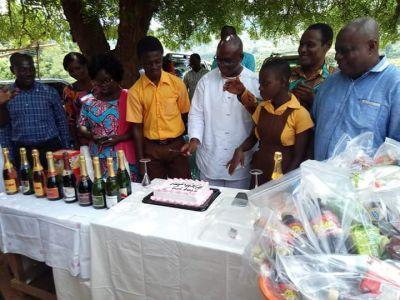 Paul Asare Ansah celebrates birthday with Tortibo JHS