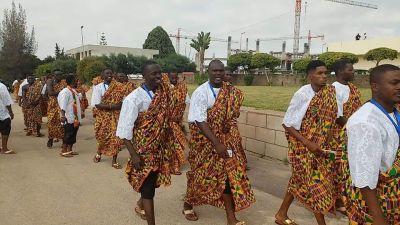 Team Ghana displays colorful Kente at All African Games