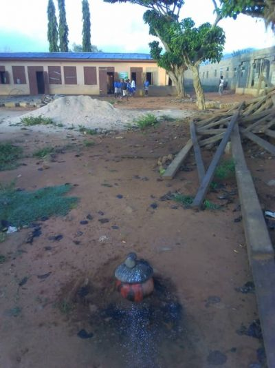 Man plants juju on school compound to claim ownership of land