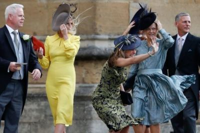 Royal wedding: Guests arriving for Eugenie's ceremony