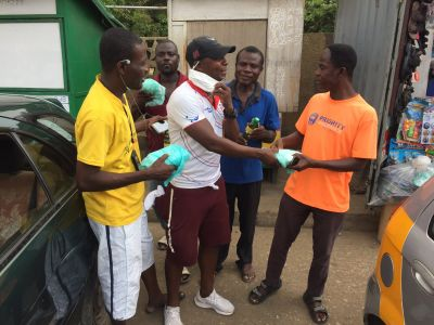 Liberty Professionals celebrate Christmas on the streets with fans