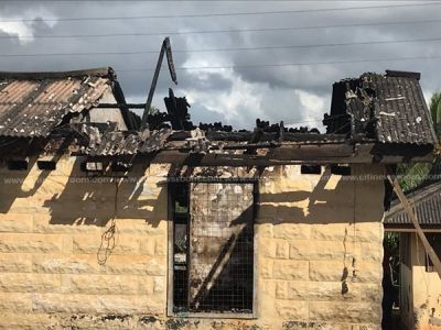 Fire razes old Sekondi Central Prisons quarters, several items lost