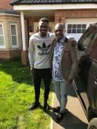 Kwesi Appiah visits Atsu and Amartey in England