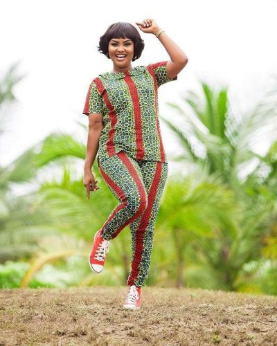 Learn from Nana Ama how to rock African print trousers