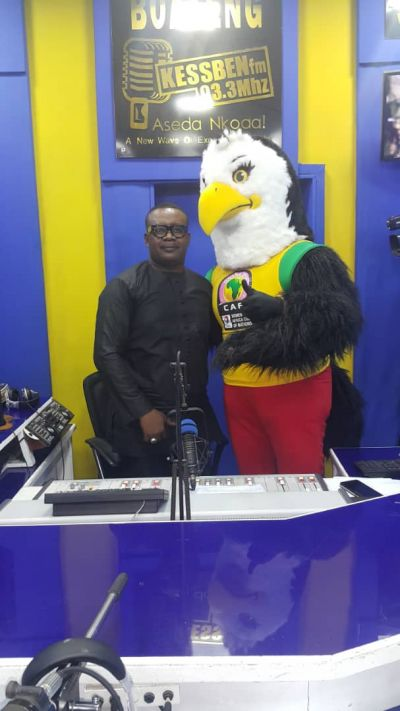 AWCON Mascot excites football fans ahead of tournament
