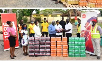 COVID-19: Coca-Cola Ghana donates food items, beverages to needy residents of Tema West