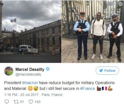 I feel safe in France despite military budget cuts - Marcel Desailly