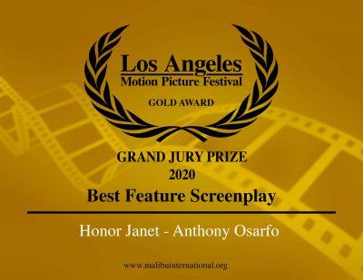Anthony Osarfo wins 'Grand Jury Gold Award' at Los Angeles Motion Picture Festival/ International Film Awards