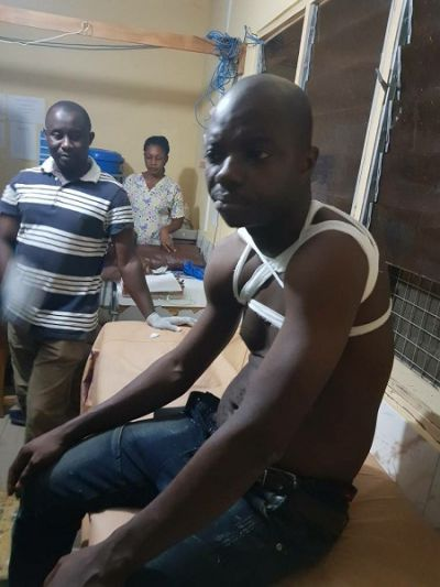 Abronye DC beaten to pulp and left with fractured arm at Atebubu