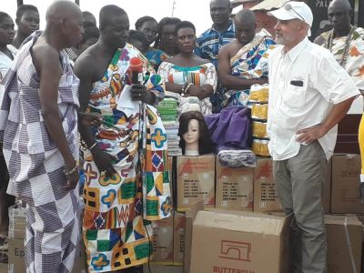Axim chiefs inaugurate 21 women into vocational training